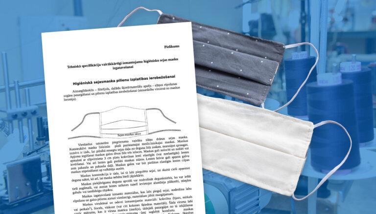 Centralizētais higiēnas masku iepirkums: vietējie ražotāji nepatīkami pārsteigti par piegādes termiņu