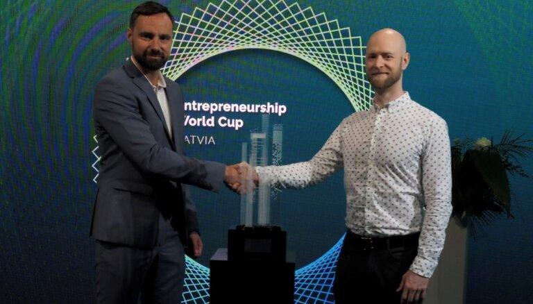 Par Pasaules Uzņēmējdarbības kausa Latvijā ieguvēju kļūst 'HyMet.eu'