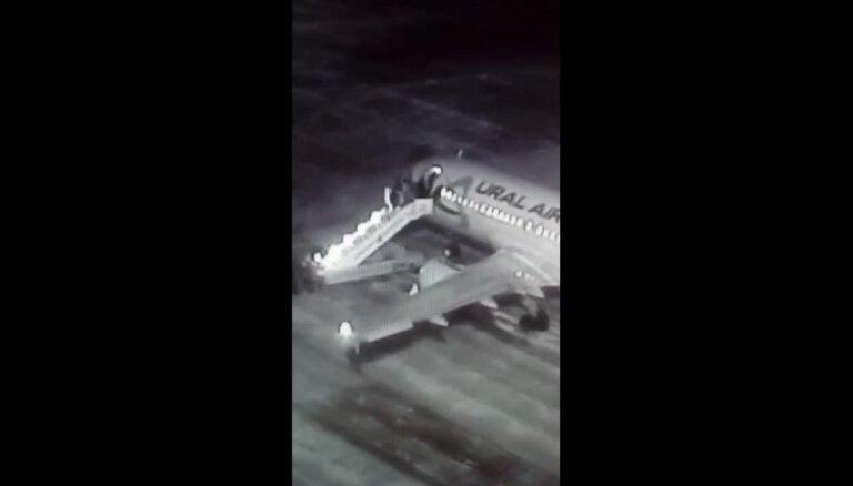 Krievijā sabrūk lidmašīnas traps