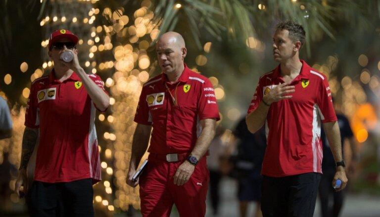 'Ferrari' piloti Fetels un Raikonens izcīna dubultuzvaru Bahreinas posma kvalifikācijā