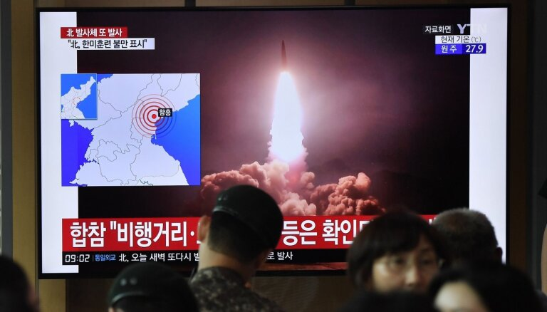 КНДР снова запустила неопознанные ракеты