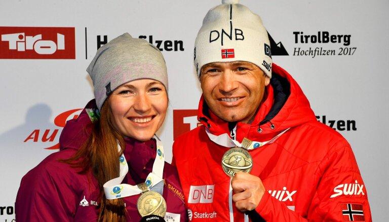 Бьорндален и Домрачева стали тренерами сборной Китая по биатлону