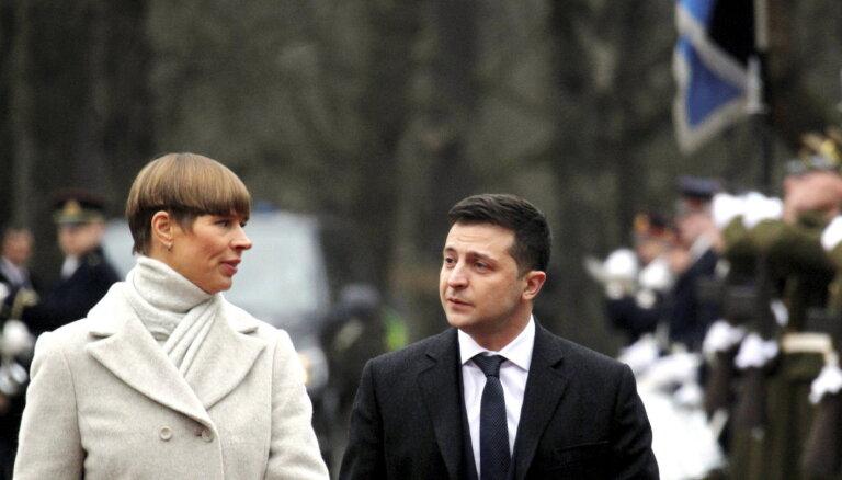 Президент Украины Владимир Зеленский прибыл в Таллин на встречу с Керсти Кальюлайд