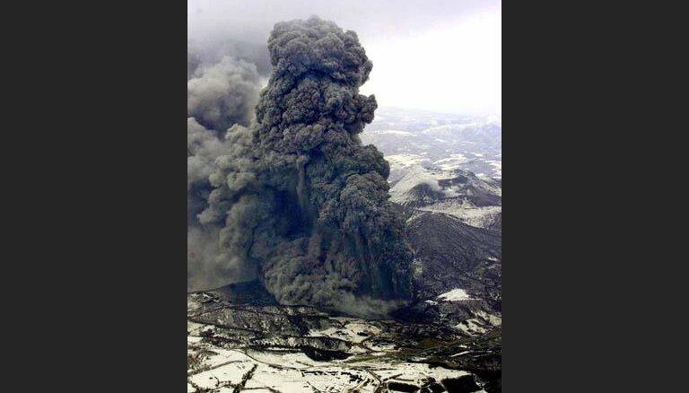 Началось извержение вулкана на Хоккайдо