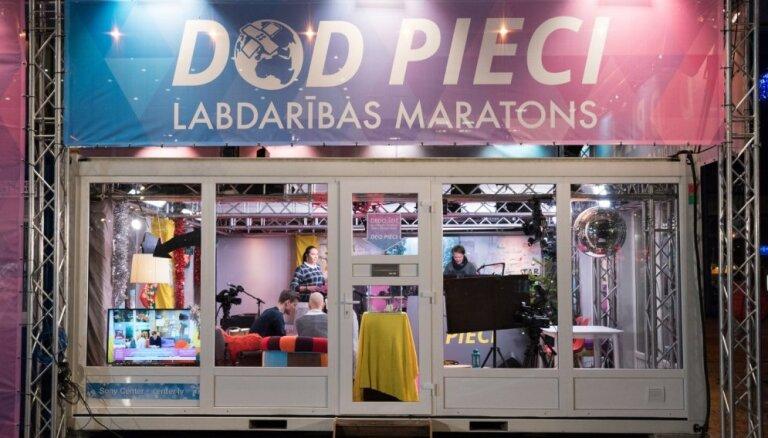 Labdarības maratonā 'Dod pieci' bērnunamos augošo bērnu atbalstam saziedots 358 121 eiro
