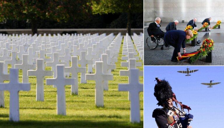Foto: Eiropieši atzīmē Otrā pasaules kara noslēgumu Eiropā