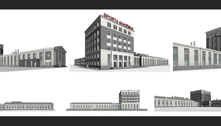 Atjaunos Latvijas Sporta pedagoģijas akadēmijas galvenās ēkas fasādi