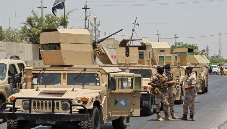 Irākas drošības spēki aiztur proirāniskus kaujiniekus