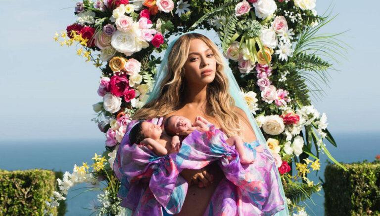 Bejonsa dievišķā foto atrāda nesen dzimušos dvīnīšus