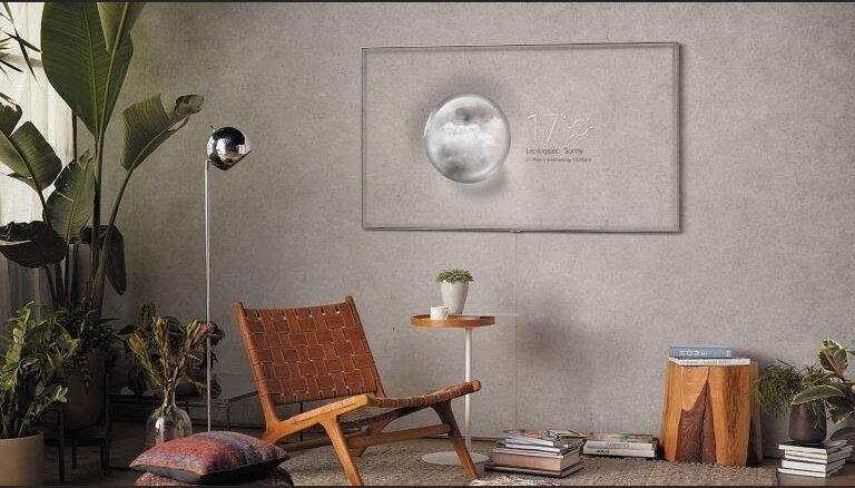 Televizora ekrāns, kas spēj 'pazust' tavā interjerā