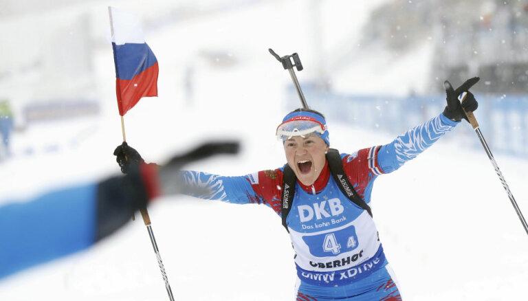 Мужская и женская команды России впервые за 12 лет выиграли обе эстафеты на Кубке мира