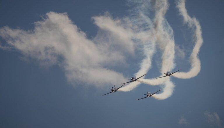 ФОТО. В Лиелварде отметили 100-летие Воздушных сил Латвии