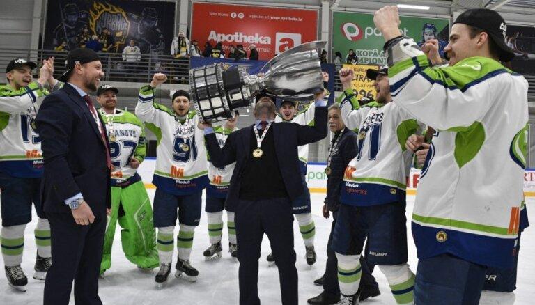 'Mogo' hokejisti otro reizi vēsturē kļūst par Latvijas čempioniem