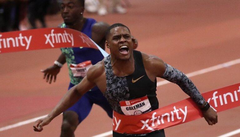 Pasaules čempionam 100 metru sprintā Kolmenam par antidopinga noteikumu piespriesta pagaidu diskvalifikācija