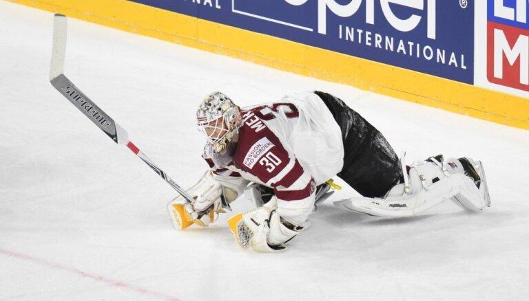 Merzļikinam teicams sniegums pirmajā IIHF Čempionu līgas izslēgšanas turnīra mačā
