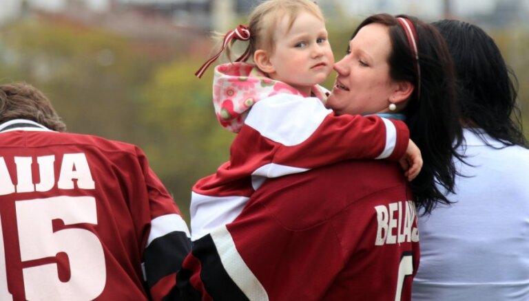 Uz hokeja čempionātu kopā ar bērniem!