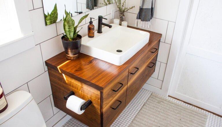 Maciņam draudzīgas pārvērtības vannasistabā: 15 idejas telpas uzfrišināšanai