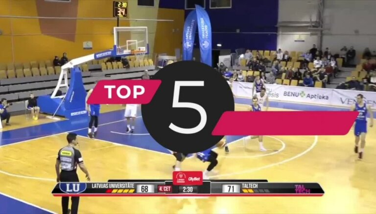 'OlyBet' basketbola līgas TOP 5 (15.03.2019.)