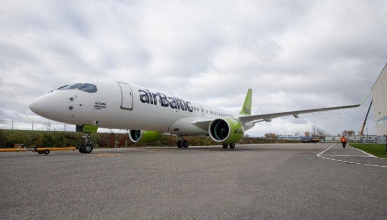Tūsens 'airBaltic' investējis jauno 'Bombardier CS300' lidmašīnu dēļ