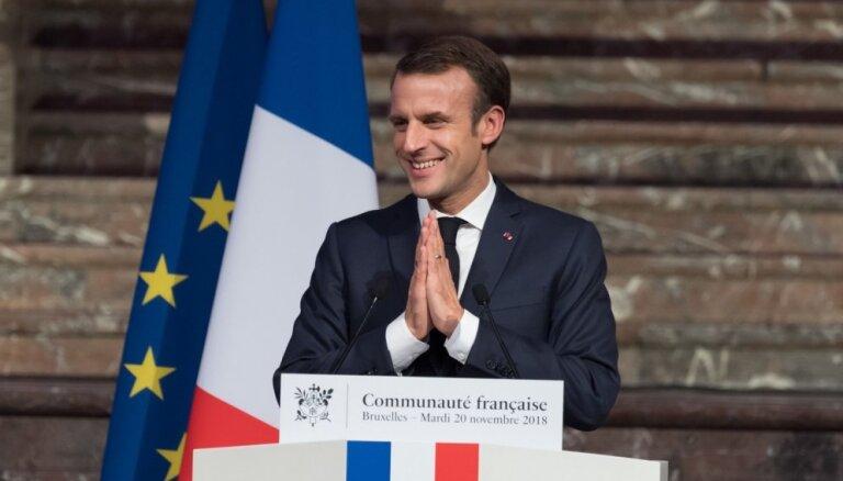 Francijā sāk izmeklēšanu par Makrona priekšvēlēšanu kampaņas finansējumu