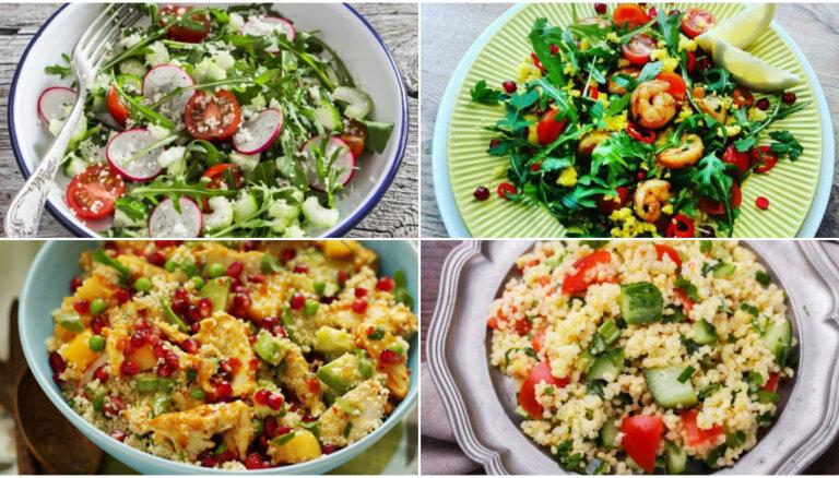 10 vienkārši pagatavojami salāti ar kuskusu ātrām darbdienu vakariņām