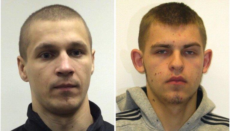 Aizdomās par mantiskiem noziegumiem meklē divus vīriešus