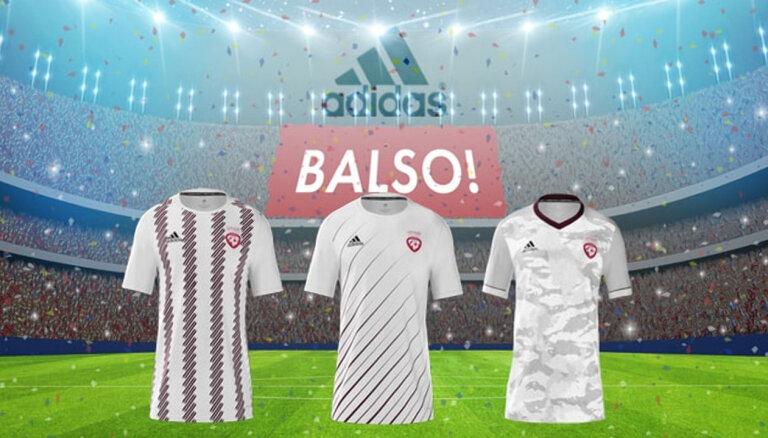 Голосование: Выбери форму для сборной Латвии по футболу!