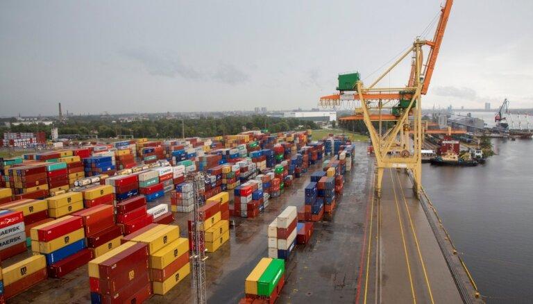 Грузооборот Рижского порта в январе уменьшился на 20,3%