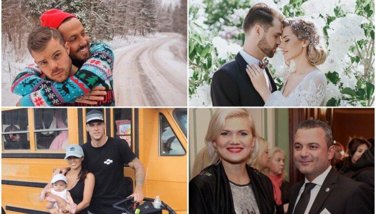 Gads mīlas zīmē: slavenu latviešu kāzas, bēbīši un jaunie pārīši