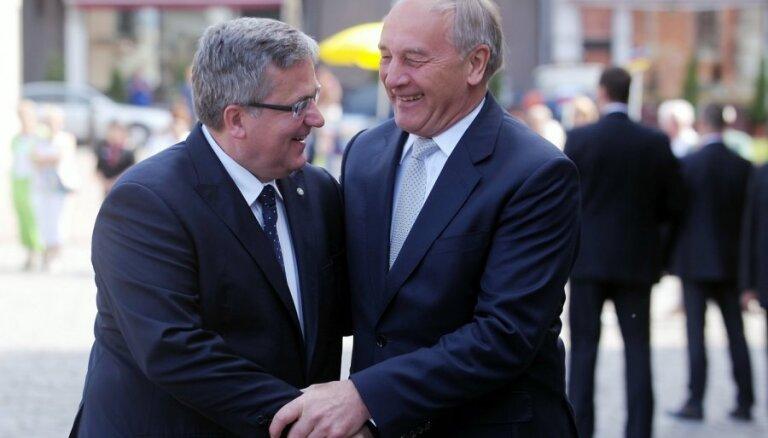Latvijas un Polijas prezidenti uzteic Latgales un Mazpolijas līguma parakstīšanu