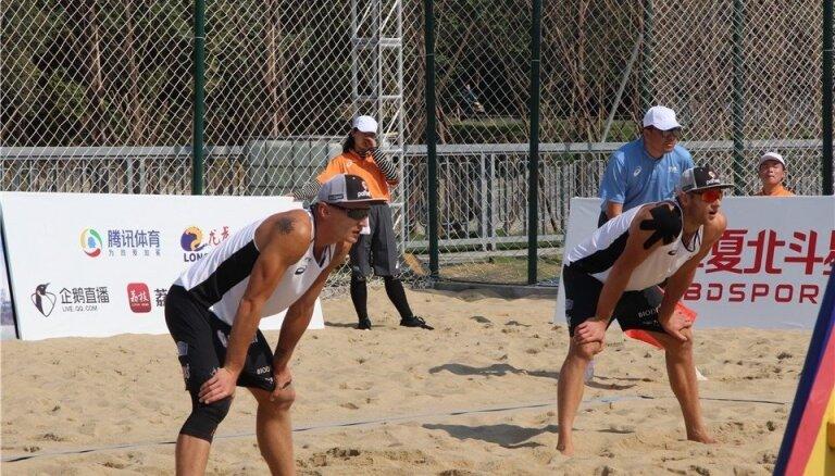Pļaviņš/Točs turnīrā Ķīnā izslēgšanas spēles sāks no pirmās kārtas