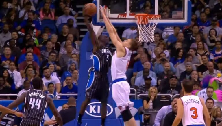 Video: Porziņģa iespaidīgais bloks iekļauts NBA dienas TOP 10