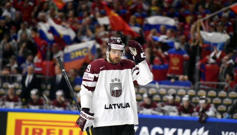 ФОТО, ВИДЕО: Сборная Латвии пропустила от России Знарка пять безответных шайб