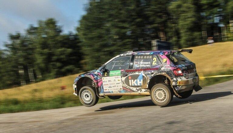 Kalle Rovanpera kļūst par divkārtēju Latvijas čempionu rallijā