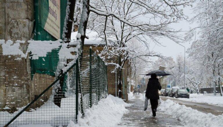 В воскресенье временами ожидается дождь и снег