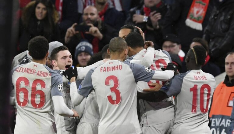 'Liverpool' droši uzvar 'Bayern' un sasniedz Čempionu līgas ceturtdaļfinālu