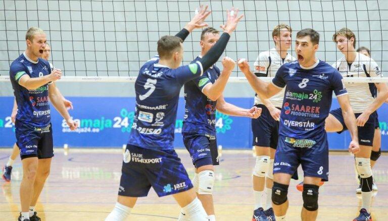 'Biolars'/'Jelgava' volejbolisti Baltijas līgā piekāpjas Caica pārstāvētajai 'Saaremaa'
