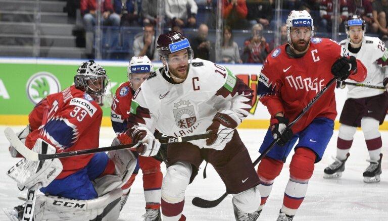 Сборная Латвии завершила выступление на чемпионате мира победой над норвежцами