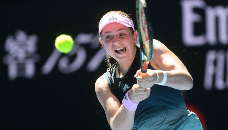 Ostapenko sasniedz Lincas WTA turnīra ceturtdaļfinālu