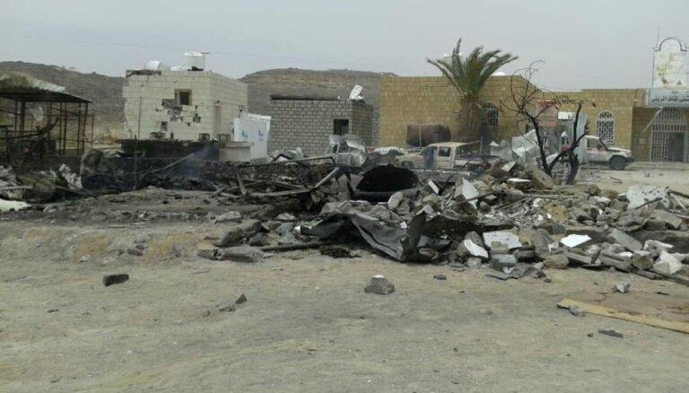Gaisa uzbrukumā netālu no Jemenas slimnīcas bojā gājuši septiņi cilvēki