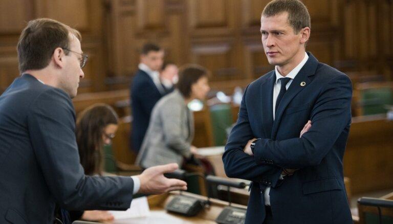 Koalīcija skaidro attiecības, Saeimā izskatot JKP ierosinājumu necelt VDD ēku Teikā