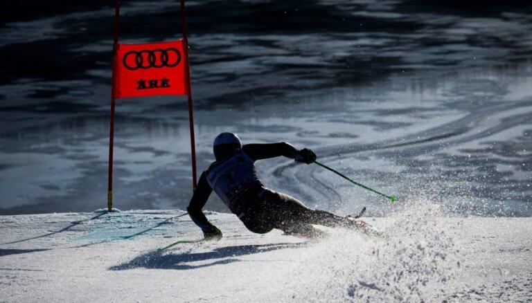 Kalnu slēpotājam Gedram 39. vieta PČ milzu slalomā; titulu iegūst Kristofešens