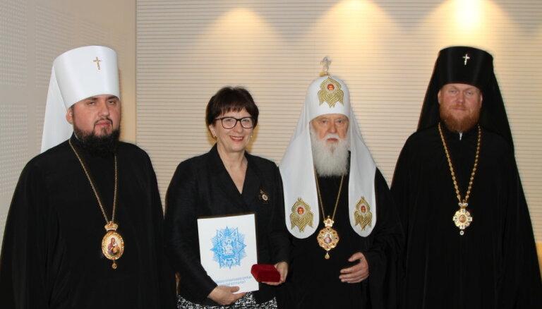 Калниете получила православный орден за заслуги перед Украиной