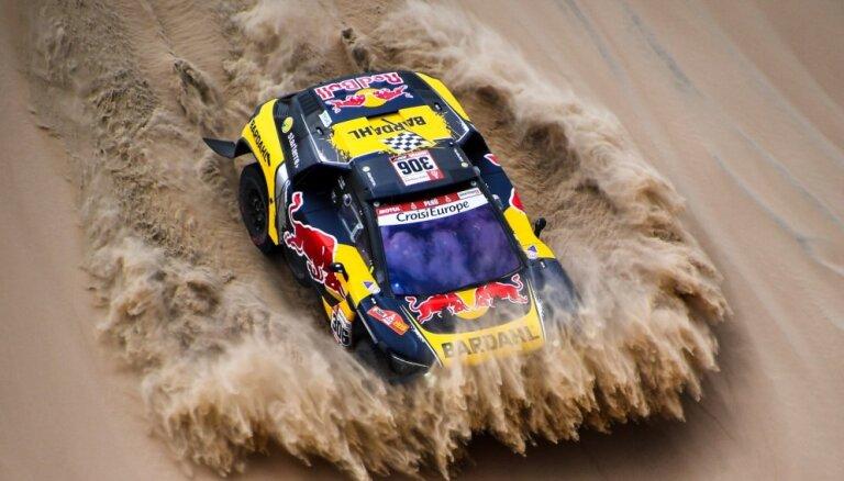 Lēbs uzvar Dakaras rallija otrajā posmā, vadību pārņem de Viljē