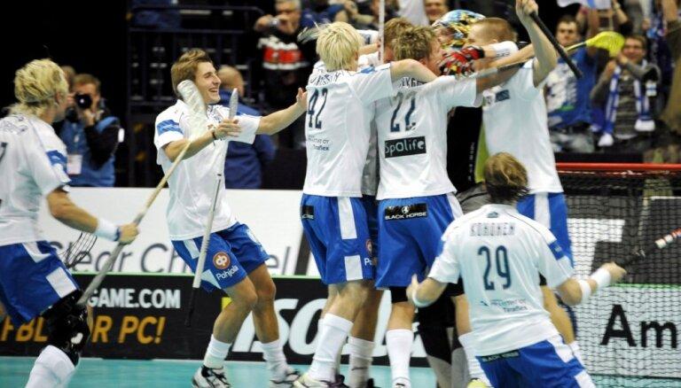 Somijas florbolisti otro reizi pēc kārtas uzvar PČ