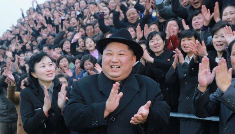ФОТО: Ким Чен Ын посетил концерт южнокорейских поп-музыкантов в Пхеньяне