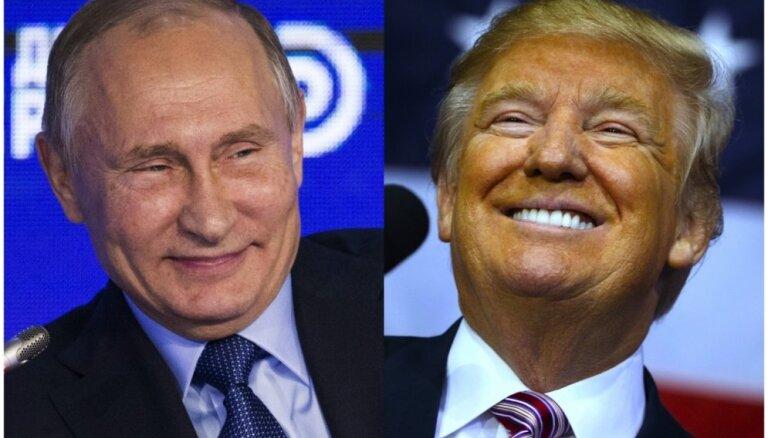 Pēc Trampa uzvaras Putins cer uz Krievijas – ASV attiecību uzlabošanos