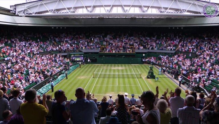 Video: Federers, Nadals un sapņu komanda Marejs/ Serēna Viljamsa priecē Vimbldonas fanus