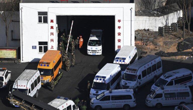 Avārijā akmeņogļu šahtā Ķīnā gājis bojā 21 cilvēks