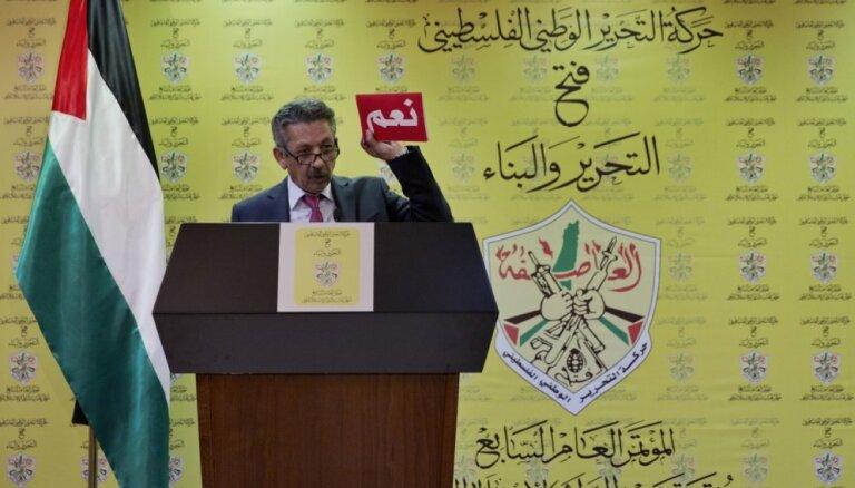 Abass pārvēlēts 'Fatah' līdera amatā